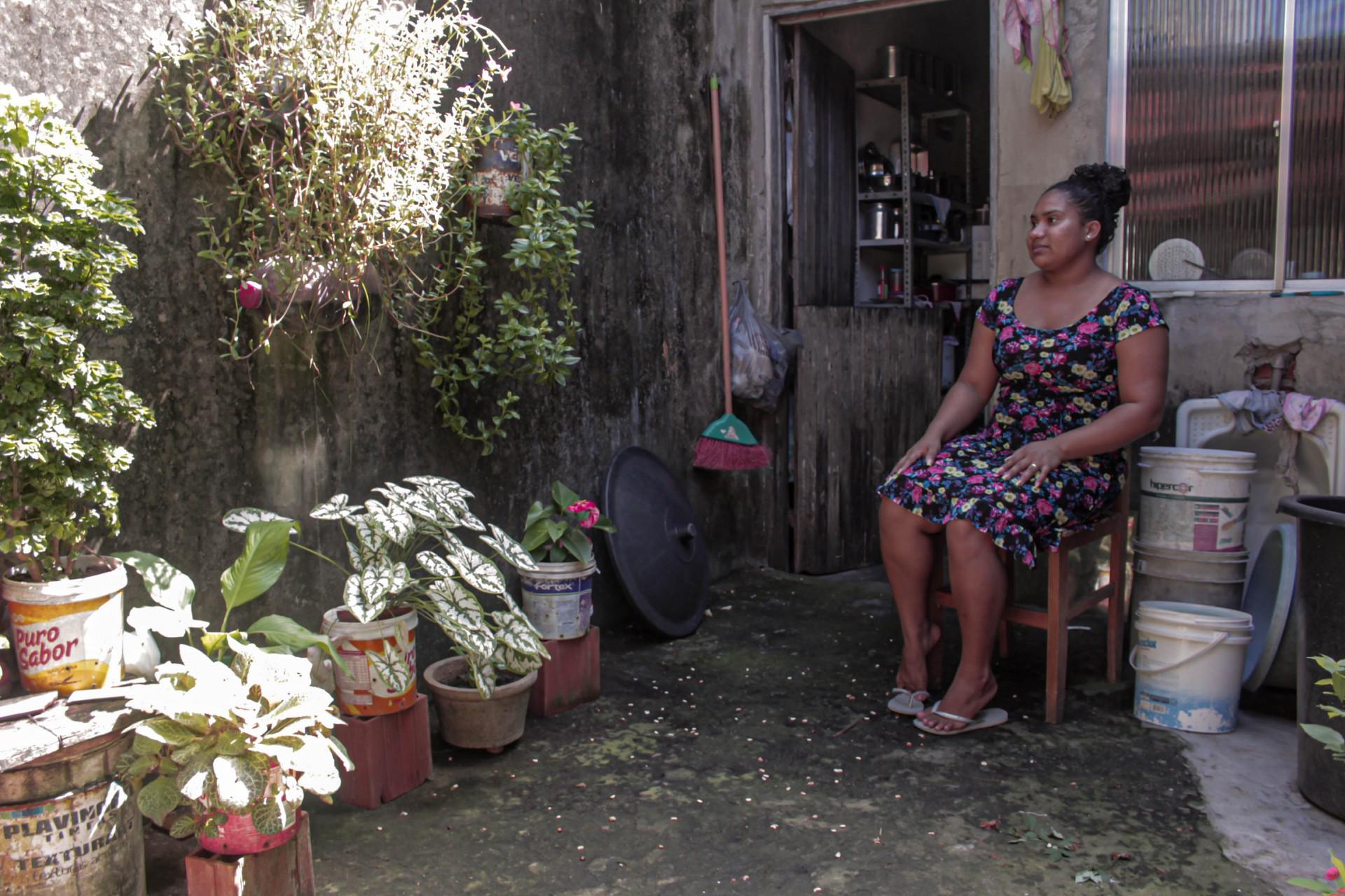 Veronizia Sales interpreta a  mãe do personagem Pedro no curta (Foto: Leo Silva / divulgação)
