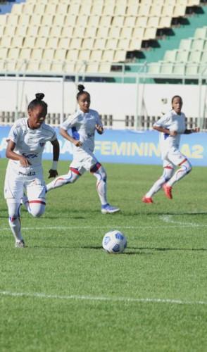 Lance do jogo da volta entre Fortaleza e Cresspom/DF, no estádio Domingão, em Horizonte (Foto: Thais Pontes/dIvulgação/Fortaleza EC)