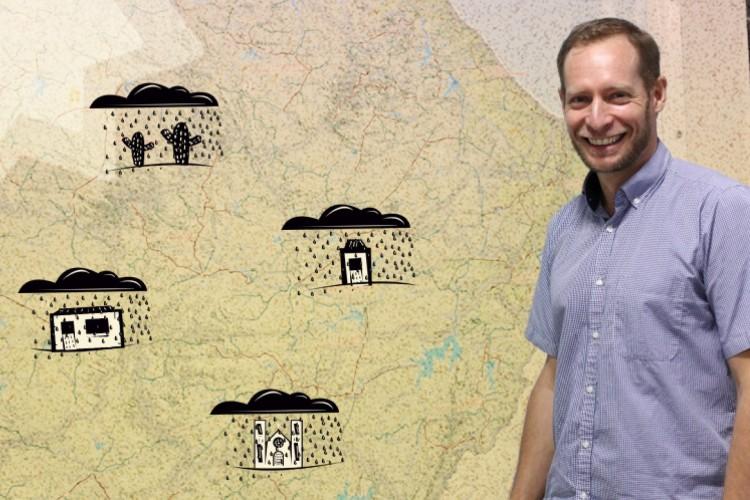 Julien Burte, pesquisador francês que se tornou especialista no semiárido cearense(Foto: FÁBIO LIMA COM INTERVENÇÃO DE ISAC BERNARDO)
