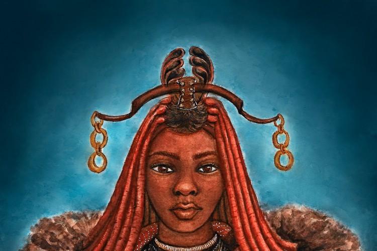 """A exposição """"Negras Cabeças"""", da artista visual nordestina Íldima Lima codifica a representatividade do cabelo feminino na cultura de etnias africanas.(Foto: Íldima Lima/Divulgação)"""