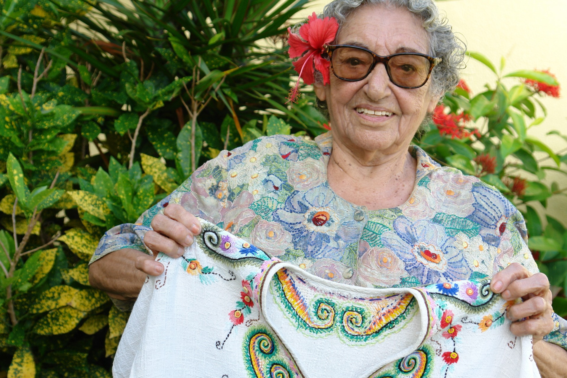 Nice Firmeza, nascida em Aracati no dia 18 de julho de 1921, completaria 100 anos neste domingo, 18 (Foto: Bruno Macedo, em 26/06/2006)
