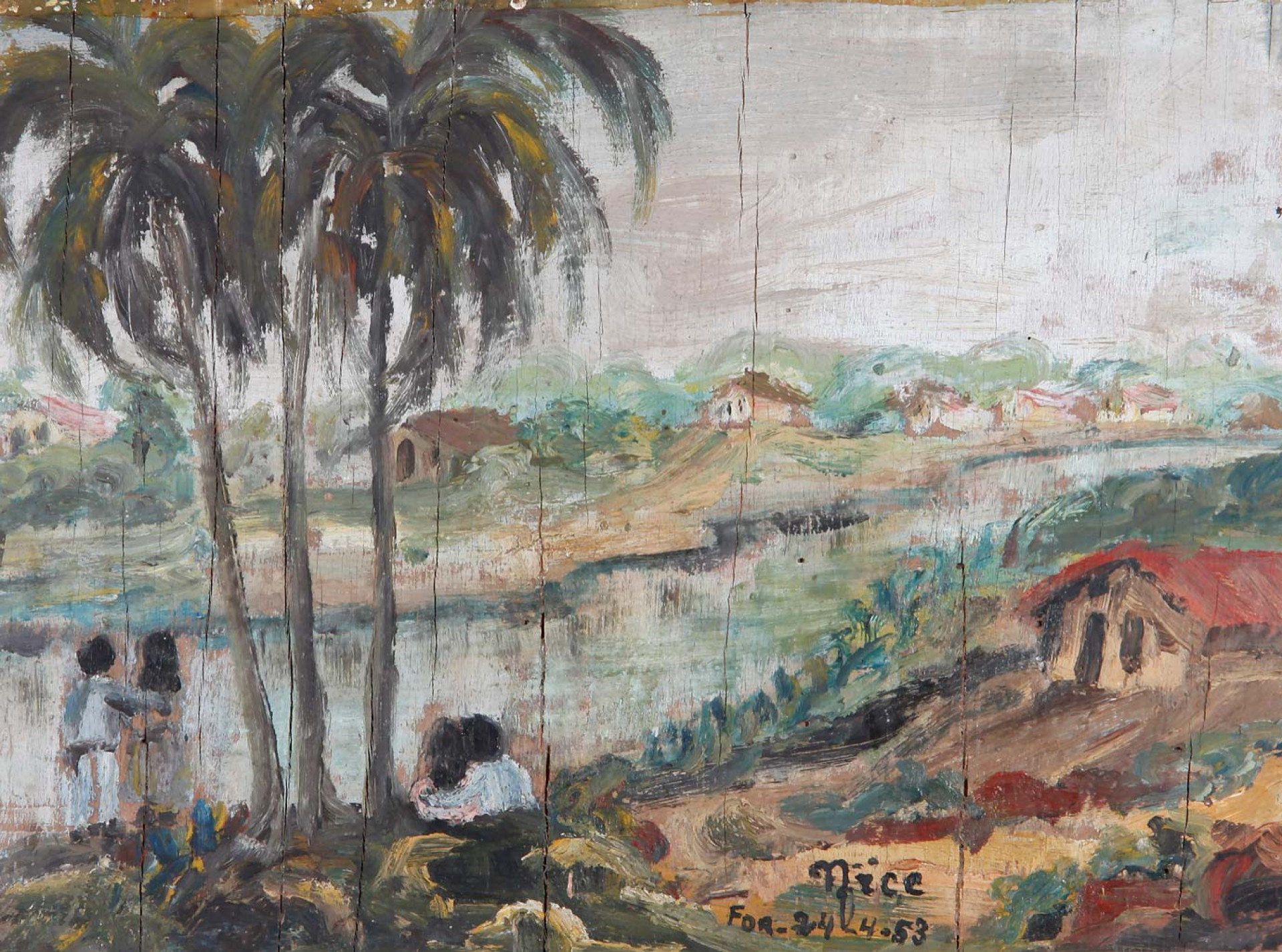 (Foto: Acervo Minimuseu Firmeza)Óleo sobre tela de Nice produzido em 1953
