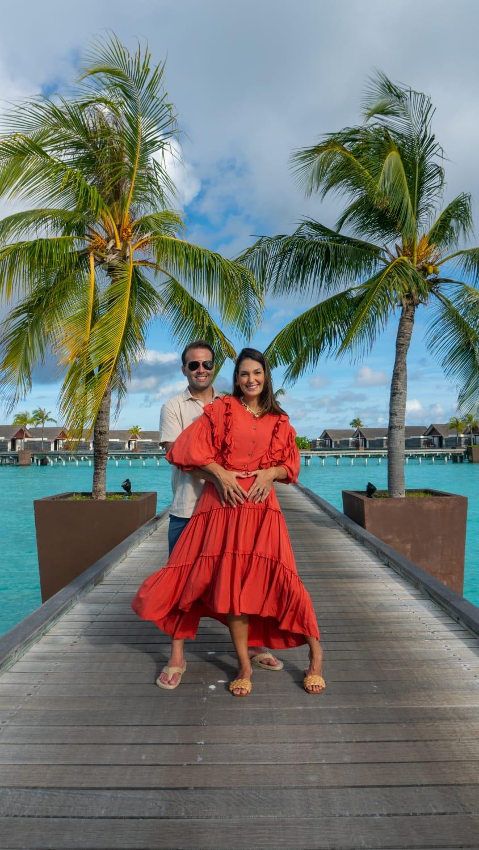 André Guanabara e esposa Catarina Moreno passam férias nas Ilhas Maldivas