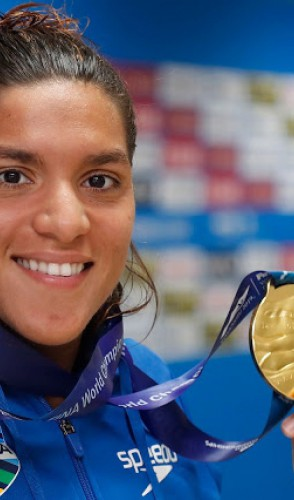 Marcela Cunha foi a 1ª atleta a conquistar o tricampeonato mundial na maratona aquática