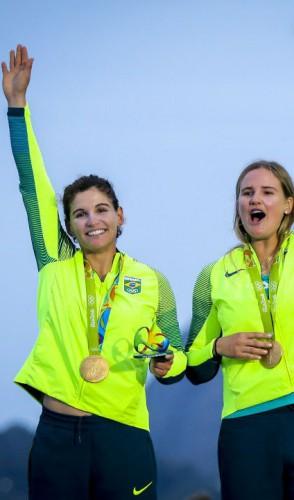 Martine Grael e Kahena Kunze foram ouro no Rio e prata no Mundial de vela passado