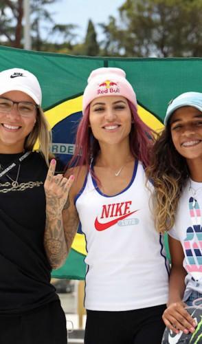 No skate temos Pâmela Rosa, Letícia Bufoni e Rayssa Leal entre as cinco melhores do mundo