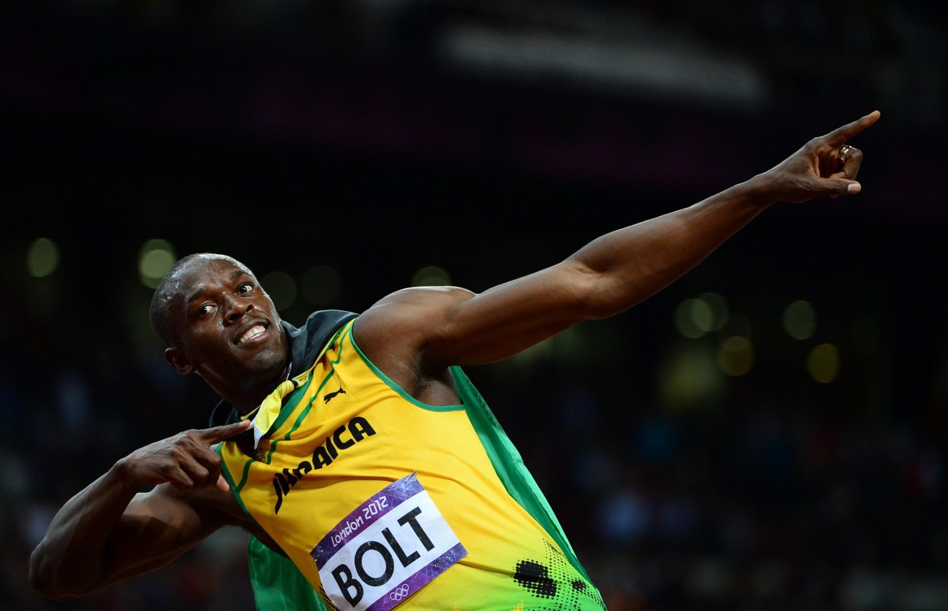Corredor olímpico, Ulsan Bolt, nas competições de Londres(Foto: Foto: AFP)