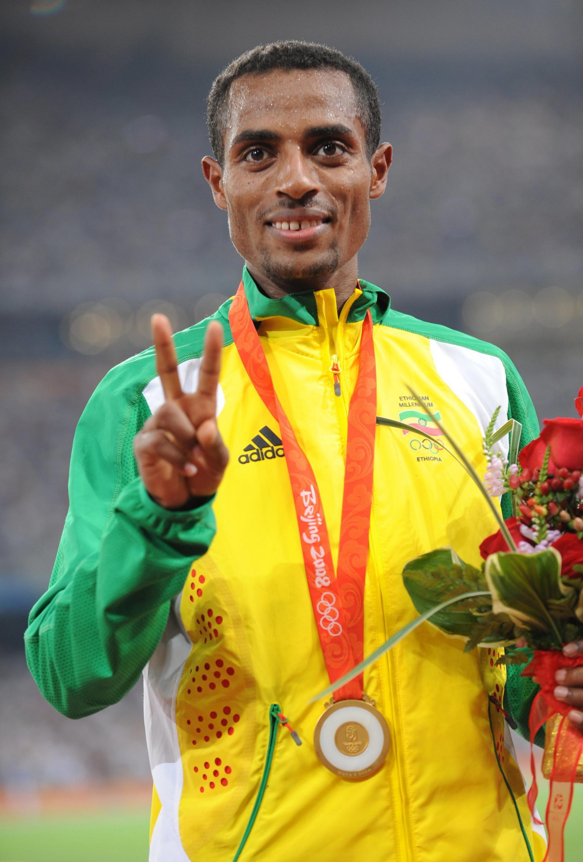 (Foto: Foto: AFP)Kenisa Bekele atleta etíope, ganhador de medalha de ouro Atenas (2004) e Pequim (2008)
