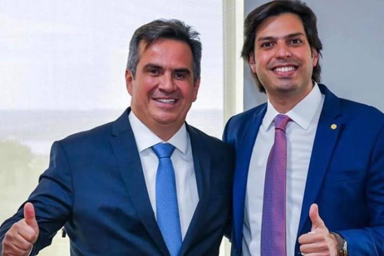 Ministro da Casa Civil, Ciro Nogueira, e o deputado federal cearense AJ Nogueira(Foto: ACERVO PESSOAL)