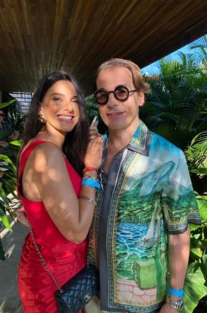 Milena Holanda e o amigo Rodrigo Maia(Foto: arquivo pessoal)