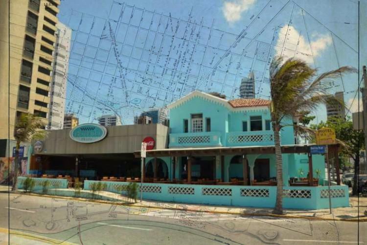 Prédios históricos destruídos: Casa do antigo Boteco Praia pertenceu à família do senador Carlos Jereissati(Foto: Adriano Accioly/Nossa Praça Urgente)