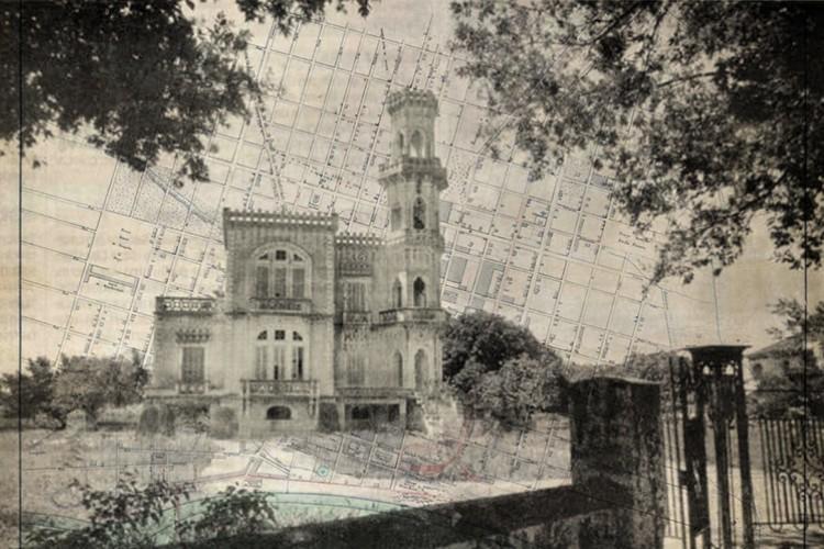 Prédios históricos destruídos: Palácio do Plácido já decadente. O prédio ficava na área onde hoje está a Praça Luiza Távora(Foto: DATADOC OPOVO)