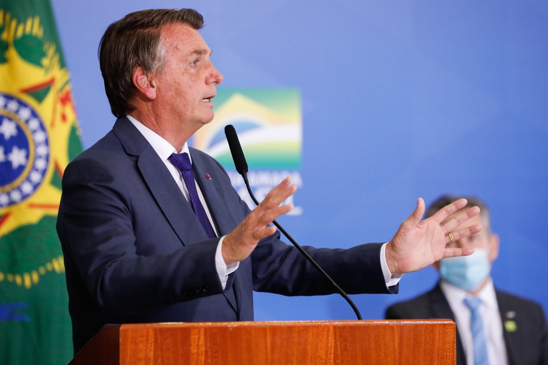 BOLSONARO tem insuflado manifestações da próxima terça-feira (Foto: Alan Santos/Presidência da República)