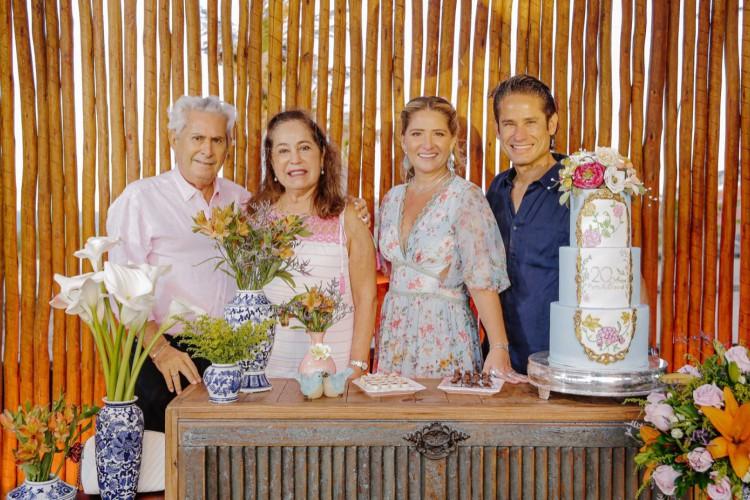 Fernando Rodrigues e Inês com Patriciana e David Rodrigues