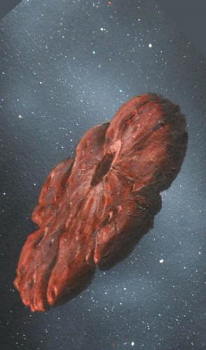 E chegaram à conclusão que o 'Oumuamua deve ser feito de gelo de nitrogênio. E antes, ele pareceria uma panqueca.