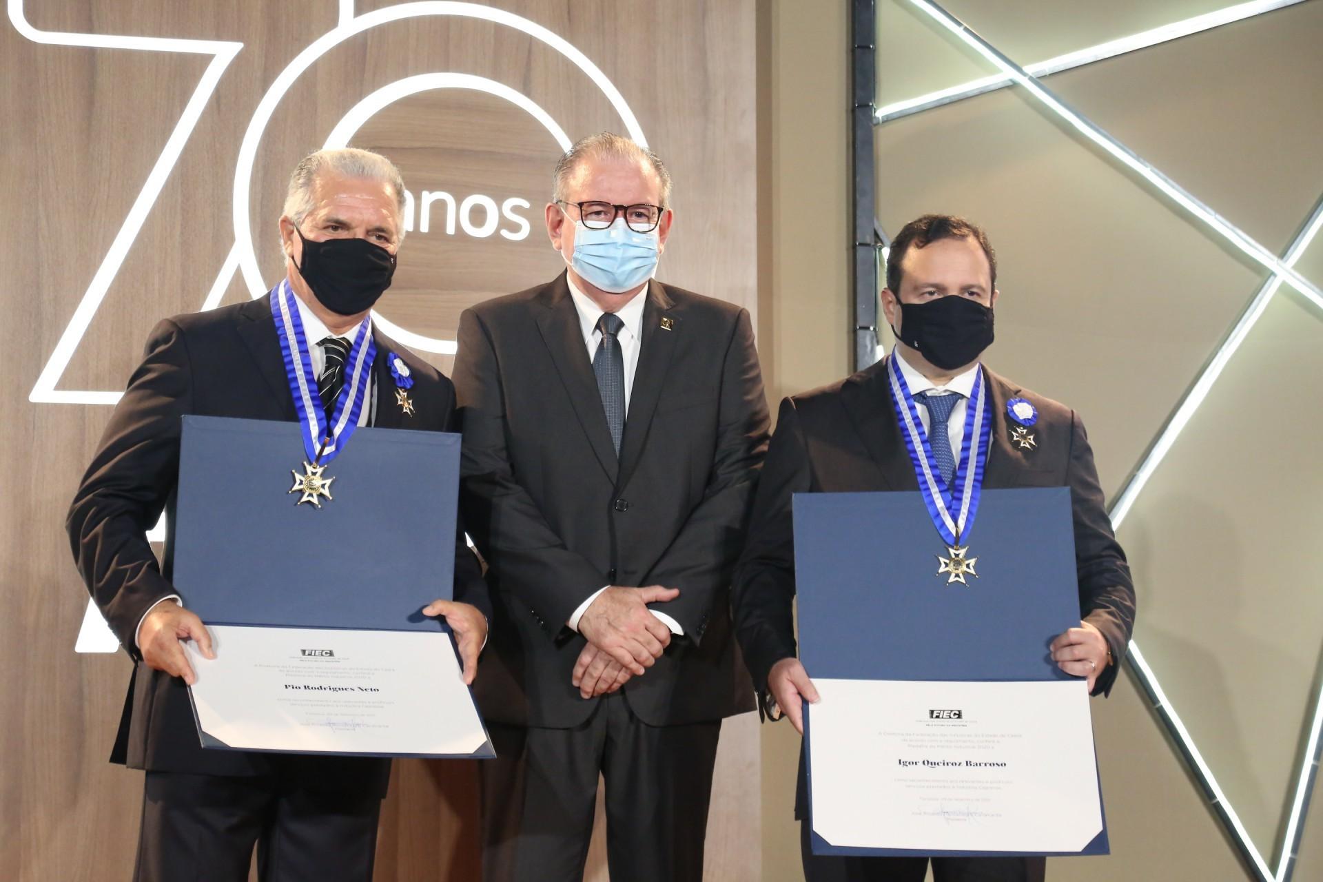 Pio Rodrigues Neto, Ricardo Cavalcante e Igor Queiroz Barroso (Foto: JOAO FILHO TAVARES)