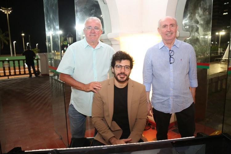 Alcimor Rocha, Amarílio Cavalcante e o pianista Rafael Maia