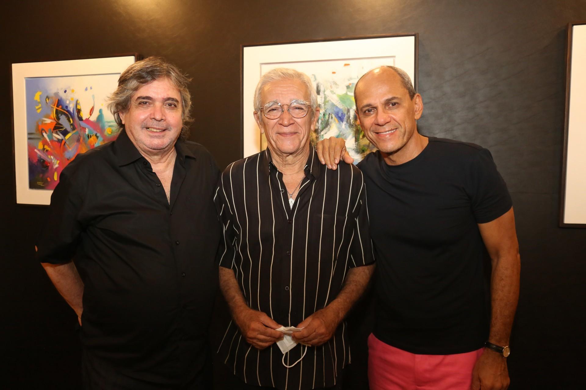 Totonho Laprovitera, Mino Castelo Branco e Mano Alencar (Foto: JOÃO FILHO TAVARES)