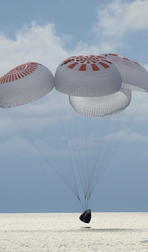 Eles viajaram pelo programa Inspiration 4, da SpaceX - empresa fundada e gerida pelo bilionário Elon Musk.