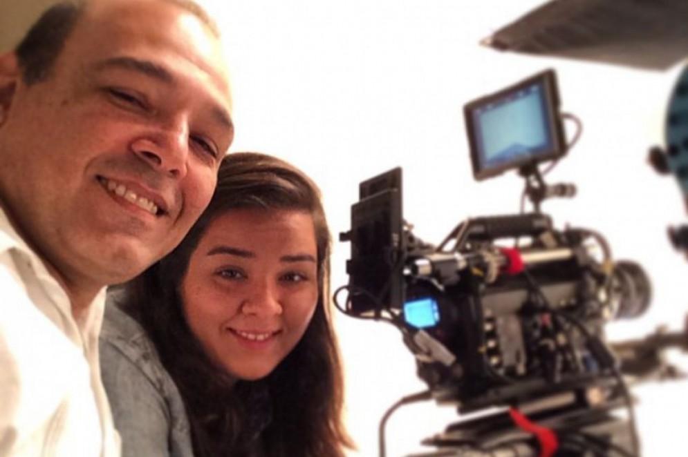 Família do cinema: Gabriela Oliveira e o pai, Xuxu, neta e filho de Eusélio Oliveira(Foto: Acervo pessoal)
