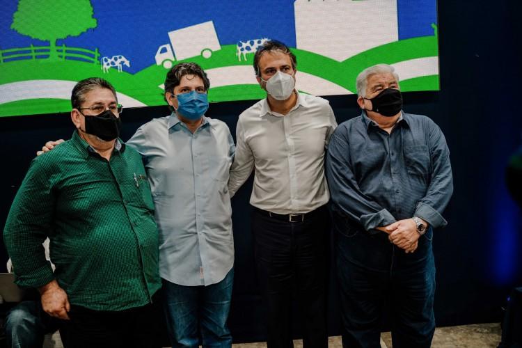 Arinilo Macena, Bruno Girão, Camilo Santana e Luís Girão