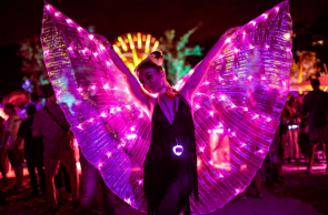 Pessoa fantasiada no SMX Festival, que  acontece entre os dias 11 e 15 de março