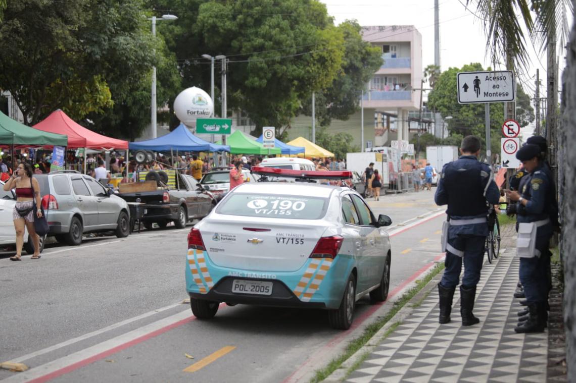 Policiamento se faz presente na Gentilândia.