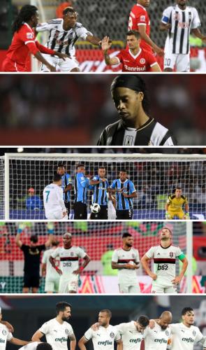 Fora o Timão, Internacional, Atlético-MG, Grêmio, Flamengo e Palmeiras disputaram e fracassaram.