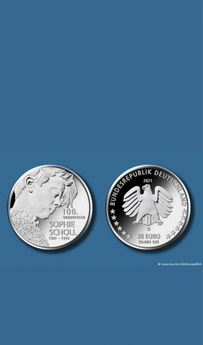 Você sabia que a moça nesta moeda foi importante no combate ao nazismo?