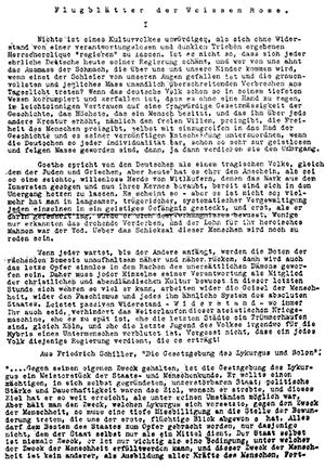 O objetivo do Rosa Branca era incentivar os cidadãos a resistir ao regime nazista.