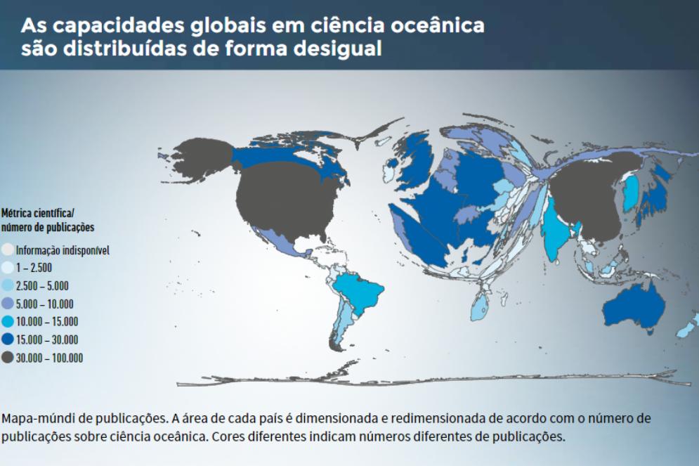 """Infográfico do documento """"A Ciência que precisamos para o oceano que queremos: Década das Nações Unidas da Ciência Oceânica para o Desenvolvimento Sustentável (2021-2030)""""(Foto: Intergovernmental Oceanographic Commission)"""